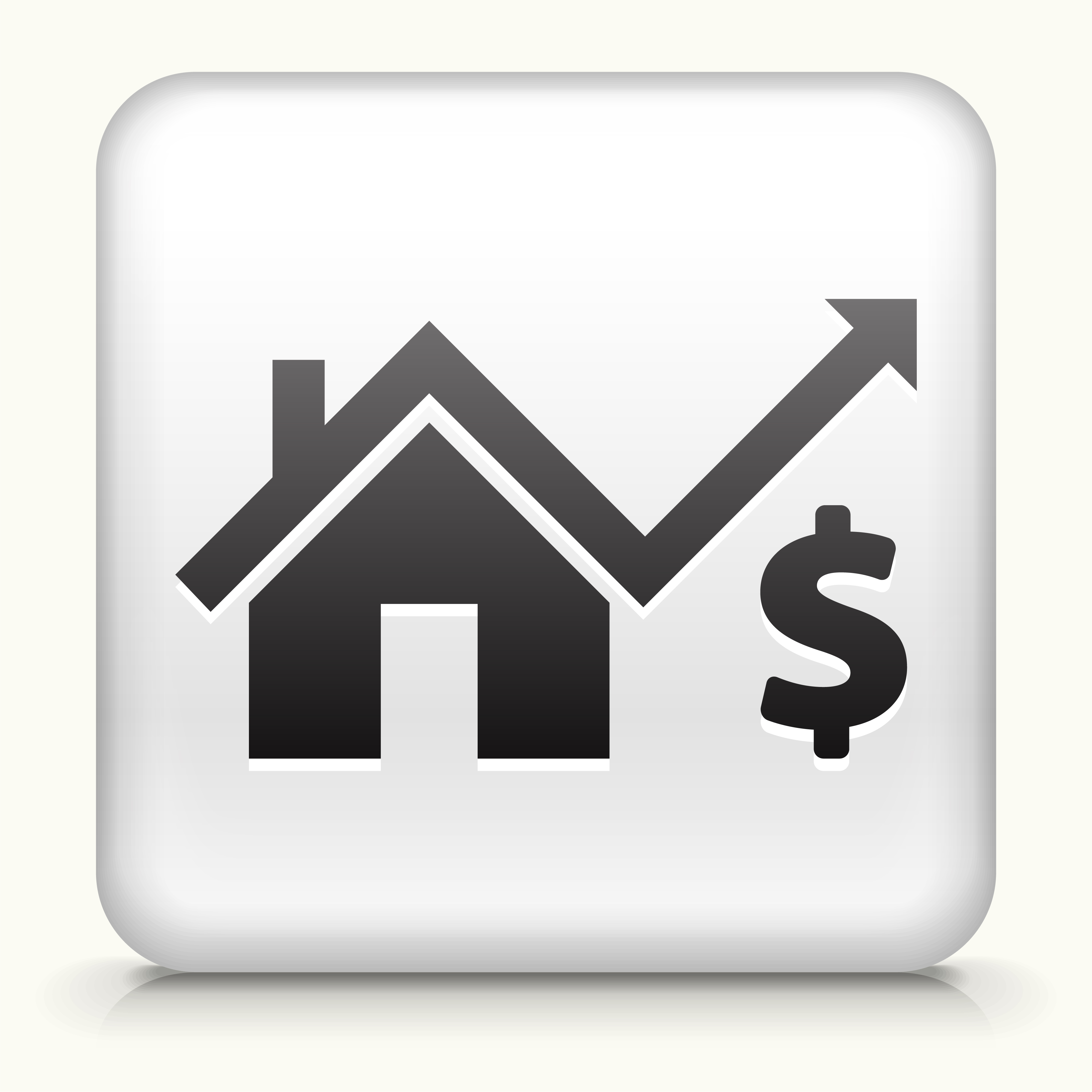 White Square Button with House Pricing